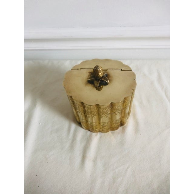1970s Vintage Lidded Brass Trinket Box For Sale - Image 6 of 8