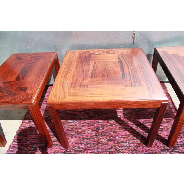 1960s Danish Rosewood Coffee & End Tables - Set of 3 - Image 4 of 10