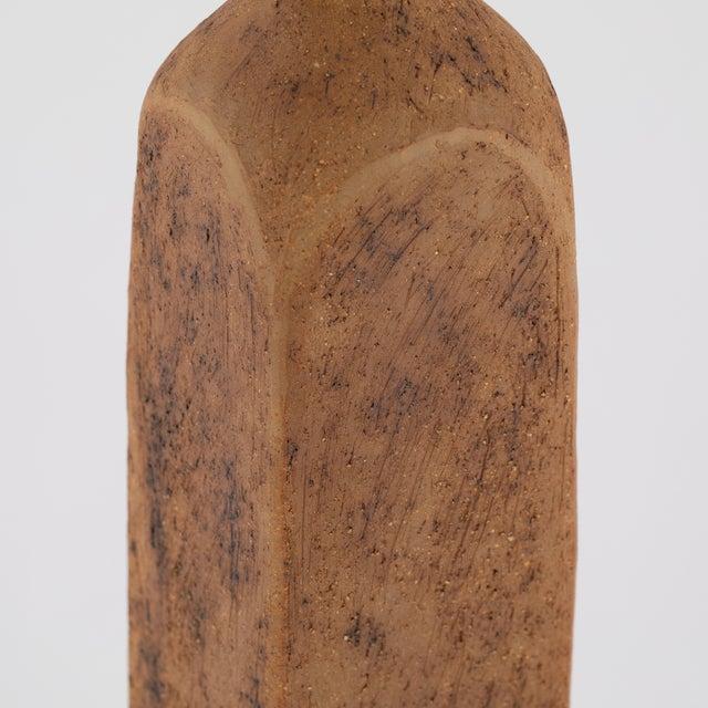 Curt Magnus Addin Tall Stoneware Vase With Aqua-Glaze Top, Circa 1970s For Sale In New York - Image 6 of 10