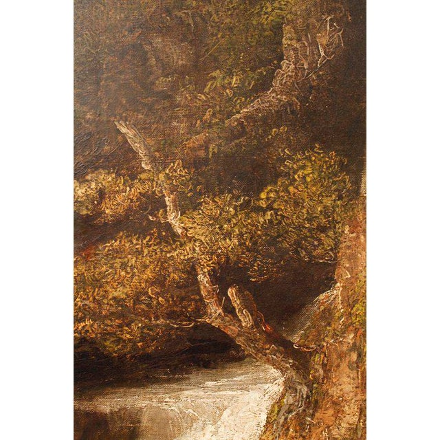 "19th Century ""Forest Mill"" Landscape Oil Painting on Canvas - Image 6 of 10"
