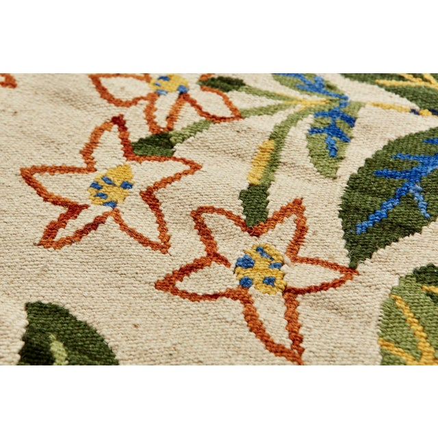 Cottage Cottage Schumacher Patterson Flynn Martin Citrus Garden Hand-Woven Wool Floral Rug - 9' X 12' For Sale - Image 3 of 10