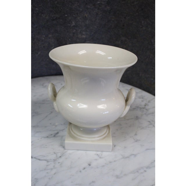 Mid 20th Century Lenox Traditional White Urn For Sale - Image 5 of 6