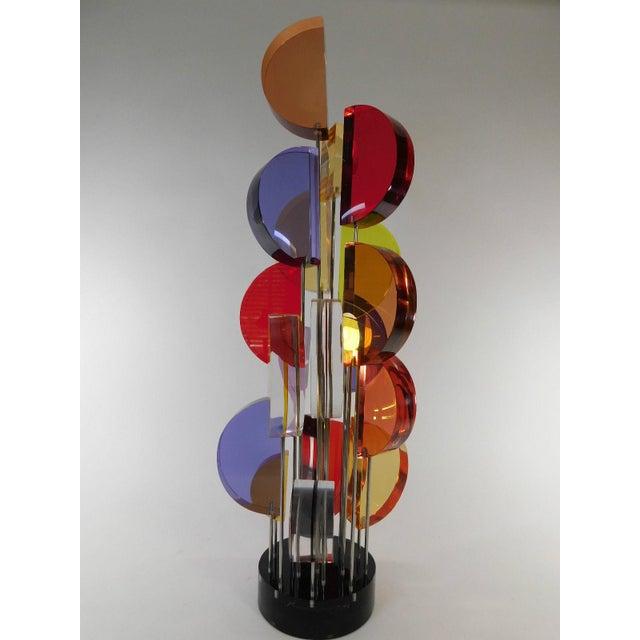 Michael George Sunburst Kinetic Lucite Sculpture - Image 2 of 10