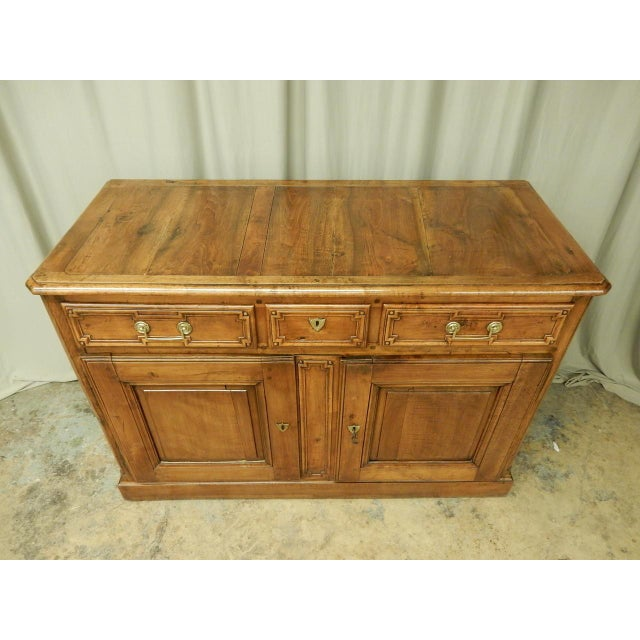 Early French Walnut 19th Century Directoire' Buffet For Sale - Image 4 of 11
