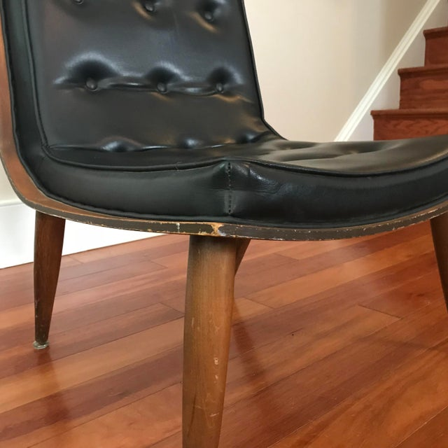 Black 1950s Mid-Century Modern Carter Brothers Scoop Chair For Sale - Image 8 of 13