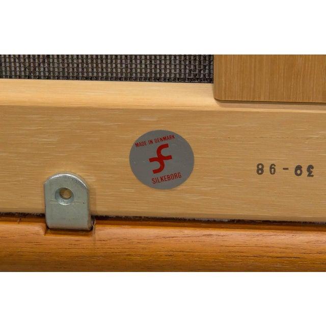 Wood Teak High Back Loveseat by Johannes Andersen for Cfc Silkeborg For Sale - Image 7 of 10