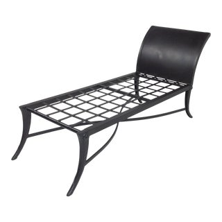 Modern Mid Century Klismos Style Patio Chaise For Sale