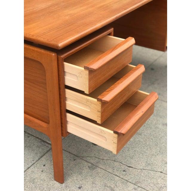 G. V. Gasvig Danish Modern Executive Teak Desk - Image 8 of 13