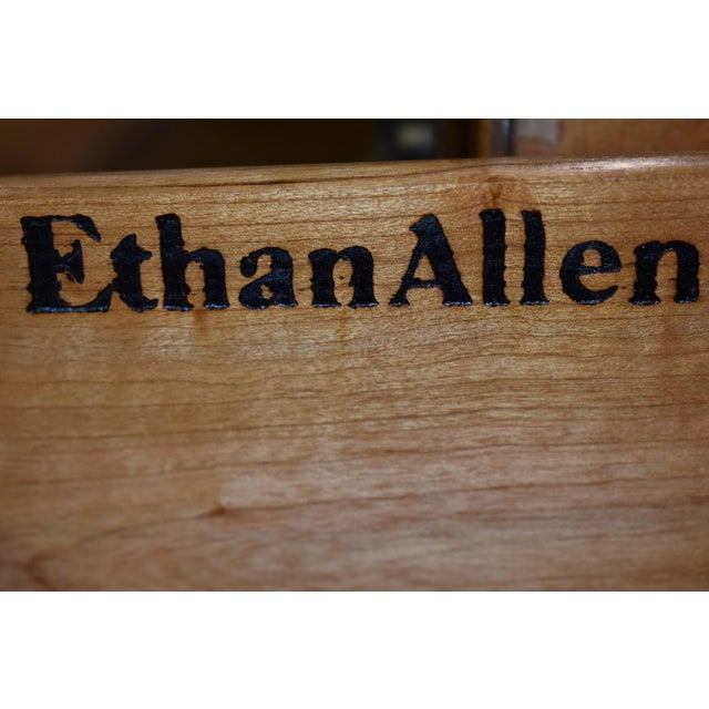 1960s Early American Ethan Allen Executive Desk For Sale - Image 11 of 12