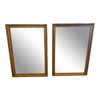Rectangular Antique Mirrors With Candle Sconces -A Pair For Sale