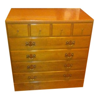 Vintage Ethan Allen Baumritter Custom Room Plan Heirloom Chest Nightstand For Sale