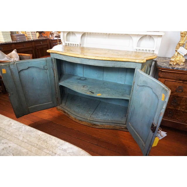Wood 18th Century Italian Painted Credenza For Sale - Image 7 of 10