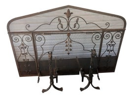 Image of Shabby Chic Fireplace Accessories