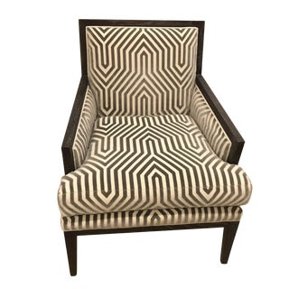Chanaux Armchair in Vanderbilt Velvet For Sale