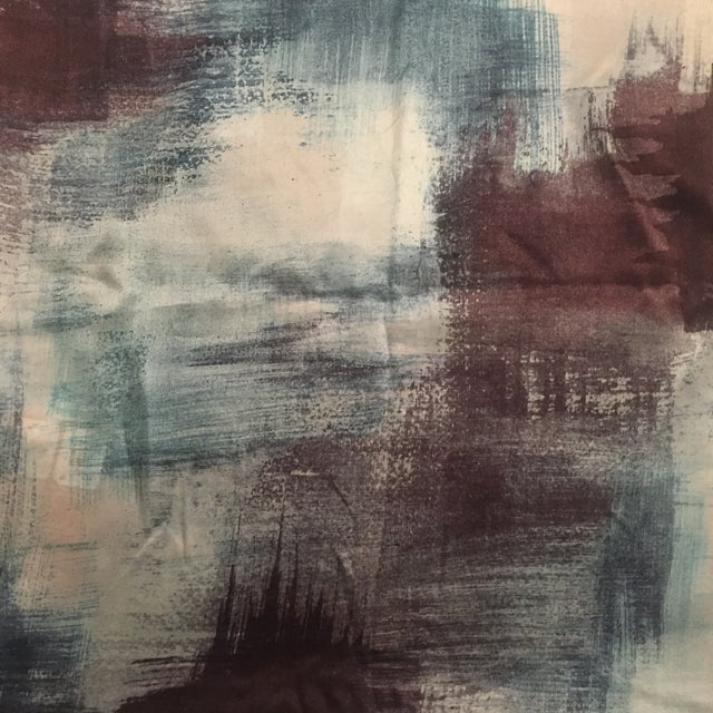 Abstract West Elm Painterly Textured Silk Pillow Cover For Sale - Image 3 of 7