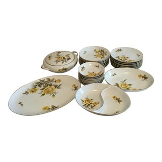 Harmony House Yellow Rose Pattern Dishes For Sale