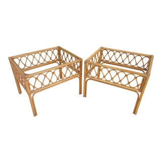 Vintage Bent Bamboo Side Tables - a Pair For Sale