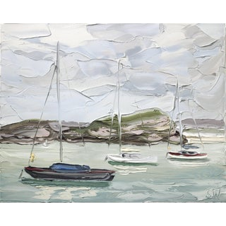 """Sally West """"Pittwater 1 (13.3.17)"""" Original Painting For Sale"""