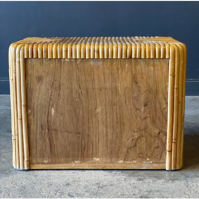 1950s Rattan Nightstand For Sale - Image 5 of 12