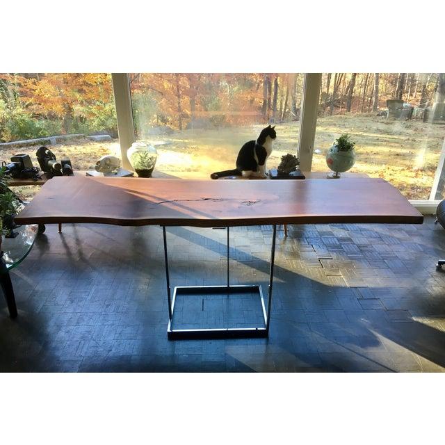 Live Edge Walnut Table Desk - Image 2 of 10