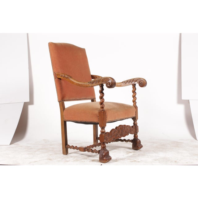 Baroque 1920s English Baroque Armchair For Sale - Image 3 of 11