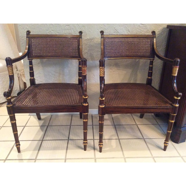 Vintage Baker Regency Accent Chairs - A Pair - Image 2 of 7