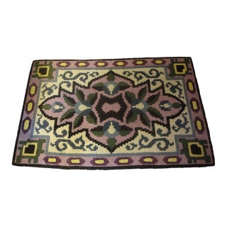 "1930s French Art Deco Geometric Rug-5'8"" X 3' 9"" For Sale"