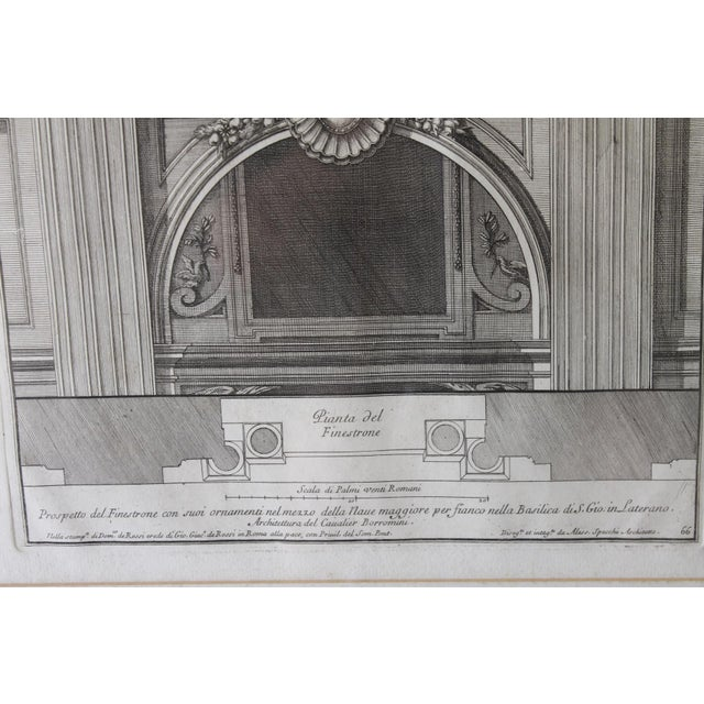 Early 19th Century Early 19th Century Antique Prospetto Del Finestreno Architectural Print For Sale - Image 5 of 12