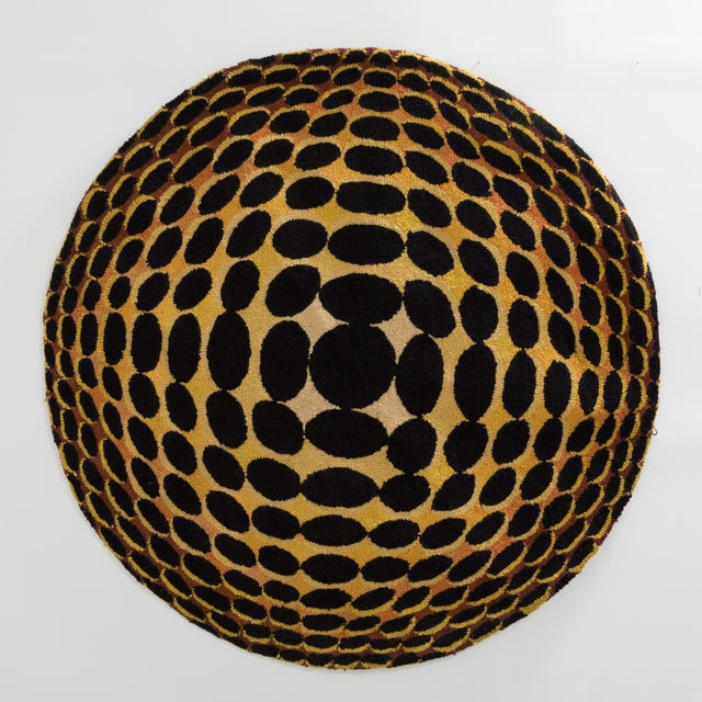 A Huge Op Art Woven Wall Sculpture Panel 1970s Price includes 10% VAT which is removed for items shipped outside the EU.