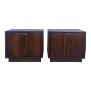 Mid Century Modern Nightstands With Cabinet For Sale