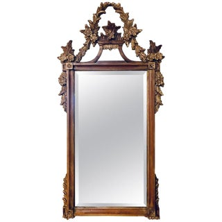 A Gilt Gold Italian Acanthus Leaf Carved Wall or Console Mirror For Sale