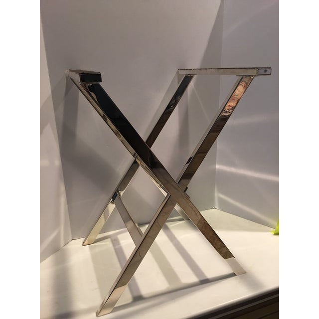 Mid-Century Modern 1970s Mid-Century Modern St James of Brazil Silverplate Tray Stand For Sale - Image 3 of 12
