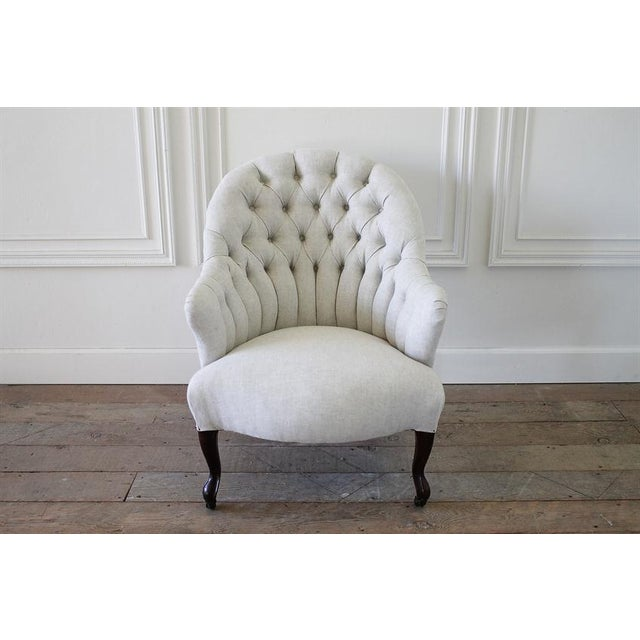 Late 19th Century Napoleon III Style Button Tufted Chair - Image 2 of 6