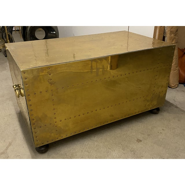 Gold Gold Chest of Drawers Cocktail Table For Sale - Image 8 of 9