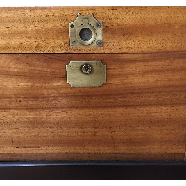 Gold Antique Chinese Small Camphor Wood Chest For Sale - Image 8 of 9