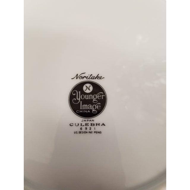 Modern 1960s Noritake Culebra Pattern Round Serving Platter & Serving Bowl - A Pair For Sale - Image 5 of 5