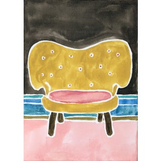 Kate Lewis Gold Chair Original Painting Preview