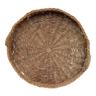 Late 19th Century Antique French Winnowing Basket For Sale