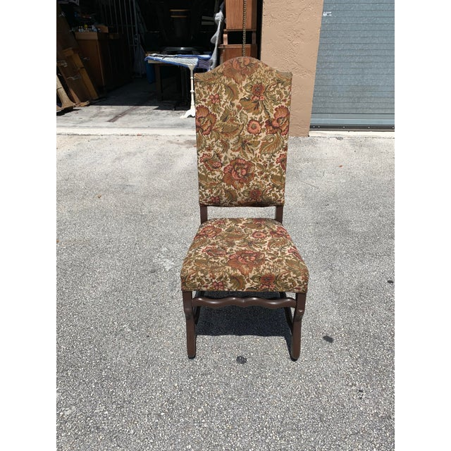 1900s Vintage French Louis XIII Style Os De Mouton Dining Chair For Sale - Image 4 of 13