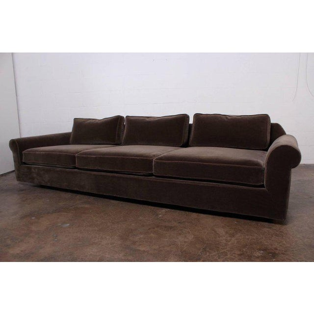 """Big Texan"" Sofa by Edward Wormley for Dunbar in Mohair - Image 4 of 10"