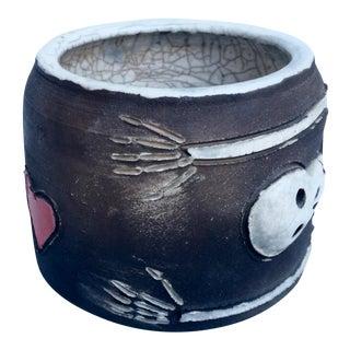 Day of the Dead Figurative Studio Pottery Bowl