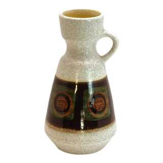 1970s West German Fat Lava Jug Style Vase For Sale
