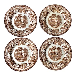 Staffordshire Dinner Plates, Set of 4 For Sale