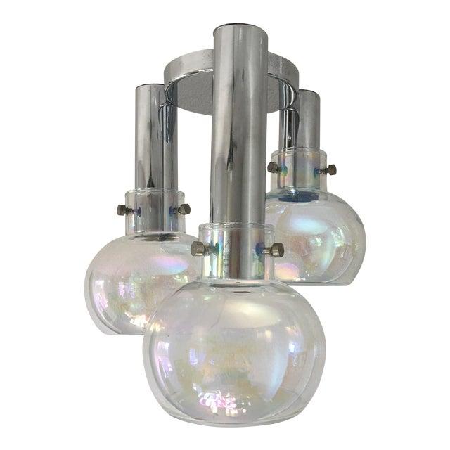 Italian Blown Glass Ceiling Light For Sale