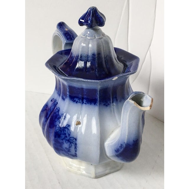 Child's Petite English Flow Blue Teapot with Lid - Image 7 of 7