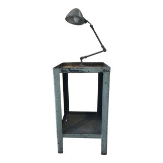 Vintage Adjustable Light Industrial Table For Sale