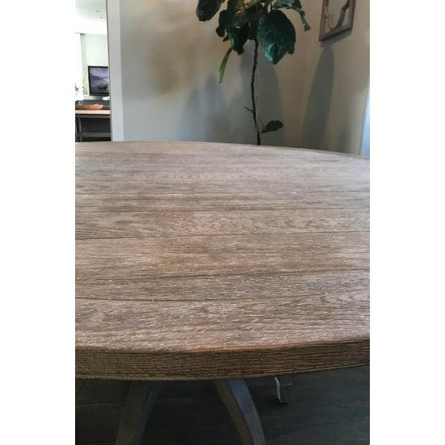 Global Views Klismos White Oak Round Table - Image 5 of 11