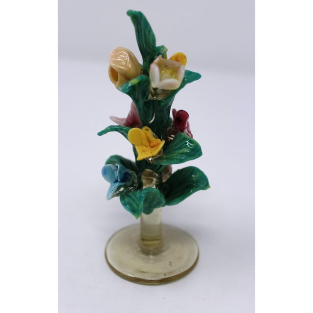 Traditional Vintage Antique Miniature Murano Flowers For Sale - Image 3 of 6