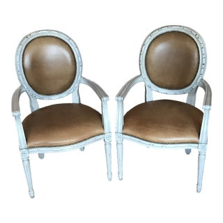 Oly Studio Arm Chairs - a Pair For Sale