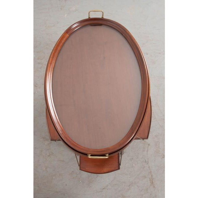 Gold French Early 20th Century Oval Mahogany Tea Table For Sale - Image 8 of 13